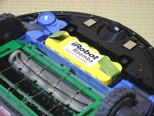黄色い部分がバッテリー